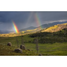 Double Rainbow in Yellowstone