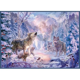 Snow Landscape Wolves