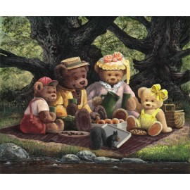 Picnic Among the Oaks